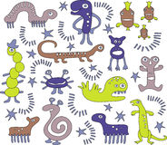艺术性的动画片生物 免版税库存图片