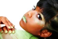 艺术性的化妆用品 免版税图库摄影