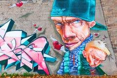 艺术性的壁画在科布伦茨,德国 库存图片