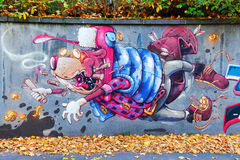 艺术性的壁画在科布伦茨,德国 免版税库存照片