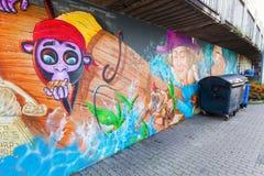 艺术性的壁画在科布伦茨,德国 免版税库存图片