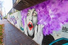 艺术性的壁画在科布伦茨,德国 图库摄影