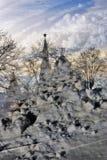 艺术性的拼贴画纸张水彩 克里姆林宫莫斯科 科教文组织世界遗产站点 库存照片
