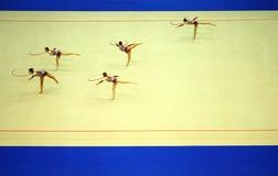 艺术性的显示体操箍 图库摄影