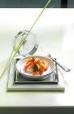 艺术性的显示食物 免版税图库摄影