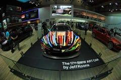 艺术性的汽车BMW M3 GT2颜色设计由杰夫・昆斯 免版税图库摄影