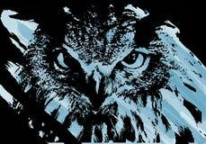 艺术性的猫头鹰面孔 库存图片