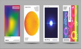 艺术性的盖子设计 创造性的流体上色背景 时髦设计 Eps10向量 库存图片