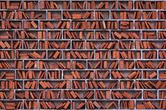 艺术性的砖图书馆做墙壁 图库摄影