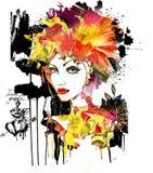 艺术性的纵向妇女 库存照片