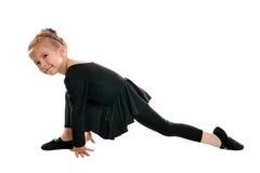 艺术性的美好的从事的女孩体操 免版税图库摄影