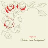 艺术性的背景玫瑰 库存例证