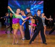 艺术性的舞蹈欧锦赛WADF 库存照片