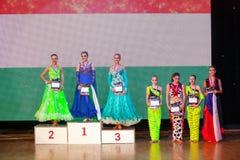 艺术性的舞蹈欧锦赛WADF 图库摄影