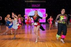 艺术性的舞蹈欧锦赛WADF 库存图片