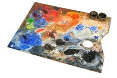 艺术性的调色板 库存照片