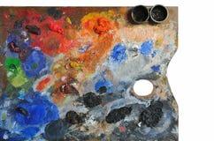 艺术性的调色板 库存图片