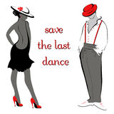 艺术性的跳舞人民的传染媒介例证 舞蹈为时保存 库存照片