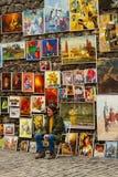 艺术性的画家 免版税图库摄影