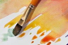 艺术性的水彩刷子 免版税库存照片