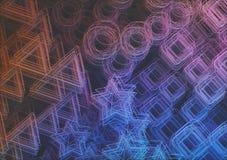 艺术性的3D抽象色的结构 库存图片
