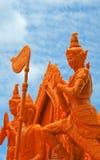 艺术性蜡烛节日在泰国。 免版税库存照片