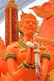 艺术性蜡烛节日在泰国。 库存照片