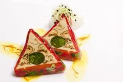 艺术手抓食物 免版税库存图片