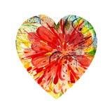 艺术抽象心脏 图库摄影