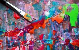 艺术抽象油漆 库存图片