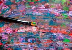 艺术抽象油漆 免版税库存照片