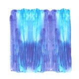 艺术抽象蓝色刷子绘了水彩被构造的背景例证 为标题、商标和销售横幅设计 库存例证