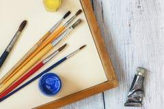 艺术掠过颜色油漆 库存图片