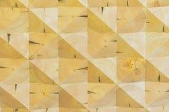 艺术木背景 抽象装饰生态没有漆的轻的木背景, geomethrical mosaik样式 免版税库存照片