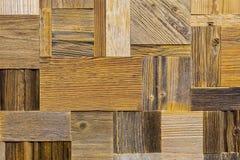 艺术木建筑 另外棕色真正的木纹理背景 葡萄酒和老长方形瓦片 背景褐色有用的木头的关闭材料 免版税库存照片