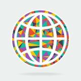 艺术标志行星地球 免版税库存照片