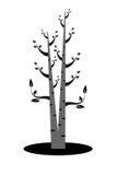 艺术树剪影 免版税库存照片
