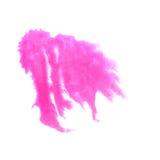 艺术桃红色水彩墨水油漆一滴水彩 库存照片