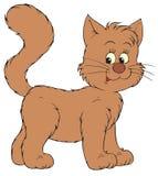 艺术棕色猫夹子向量 库存图片