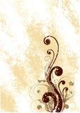 艺术棕色花卉 库存照片