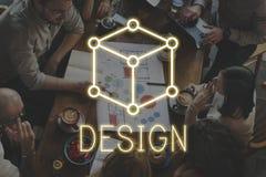 艺术概念计划想法视觉视觉图表概念 图库摄影