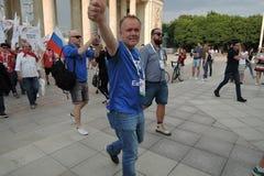 艺术橄榄球节日在莫斯科 免版税库存图片