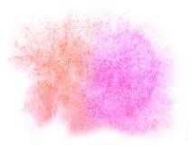 艺术水彩墨水油漆一滴水彩红色飞溅五颜六色的污点 免版税库存图片