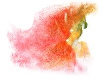 艺术水彩墨水油漆一滴水彩飞溅五颜六色的污点 库存图片