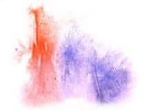 艺术水彩墨水油漆一滴水彩飞溅五颜六色的红色, 免版税图库摄影