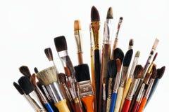 艺术油漆刷 库存图片