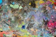 艺术油漆指示纹理 免版税库存图片