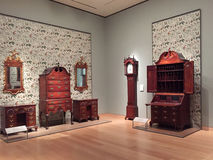 艺术波士顿内部好的博物馆  库存图片