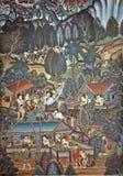 艺术泰国墙壁 免版税图库摄影