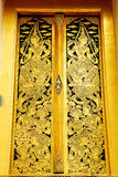 艺术泰国门的壁画 免版税库存图片
